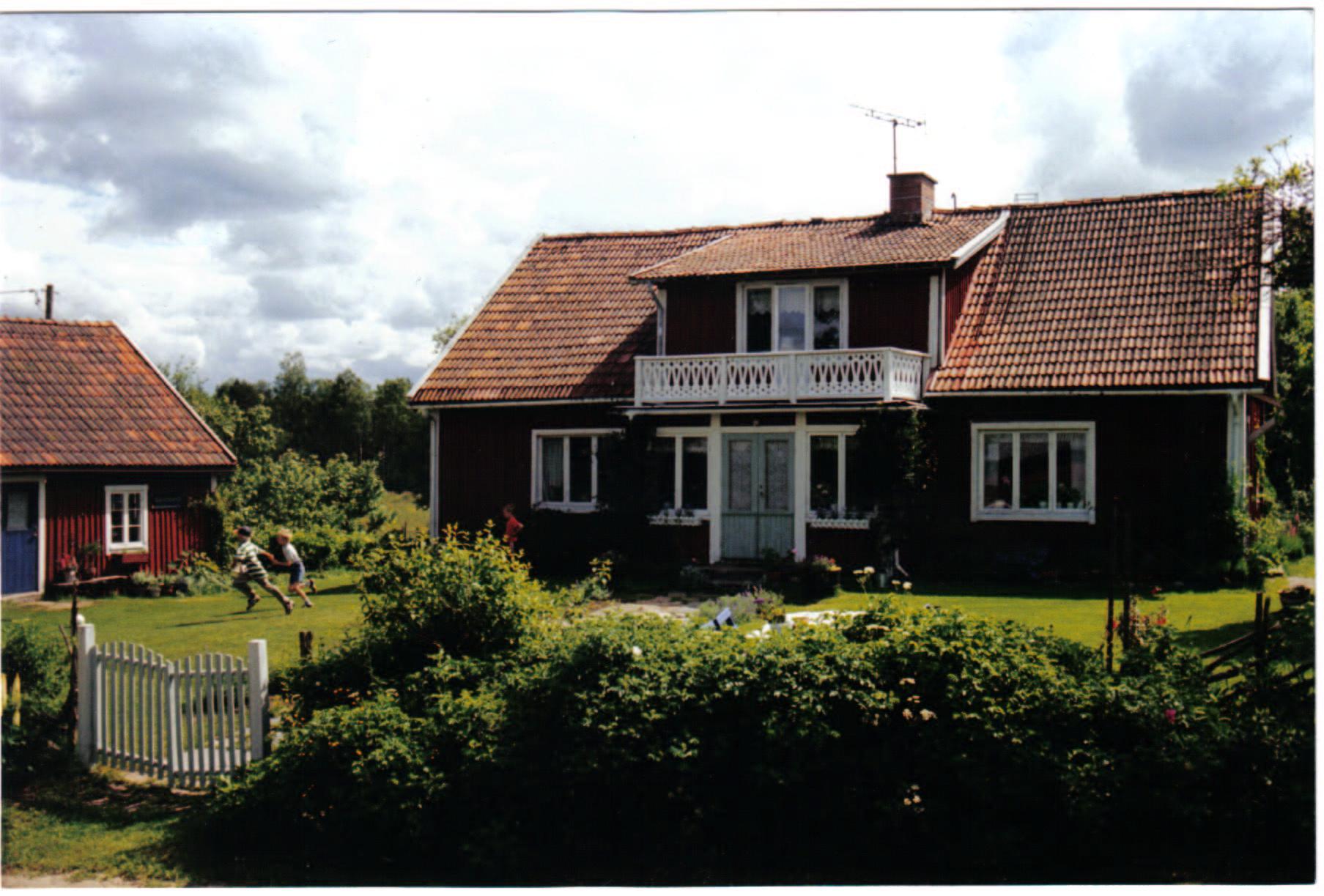 gammal bild av gården